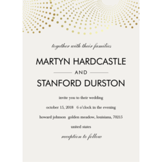 Classic Style/Modern Style Flat Card Invitation Cards