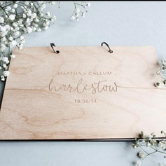 Personalized design Wood Guestbook (101188099)