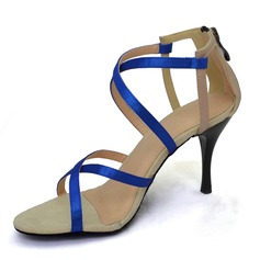 Women's Satin Sandals Latin Dance Shoes (274204812)