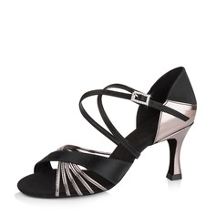 Women's Satin Leatherette Sandals Latin Dance Shoes