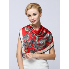 Floral Neck/Square 100% Mulberry silk Square scarf