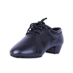 Kids' Leatherette Heels Latin Ballroom Practice Character Shoes With Lace-up Dance Shoes