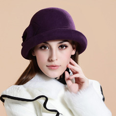 Ladies' Elegant Wool With Flower Floppy Hats