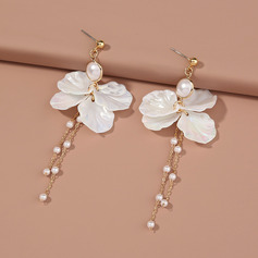 Unique Alloy/Pearl Earrings