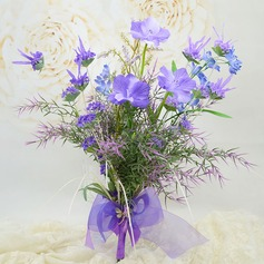 """Just budding"" Free-Form Artificial Silk Bridal Bouquets"