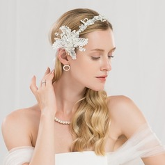 Ladies Beautiful Polyester Headbands With Rhinestone/Venetian Pearl (Sold in single piece)