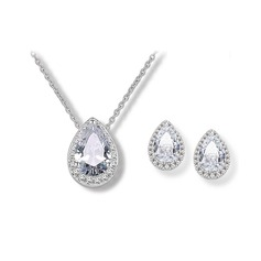 Shining Alloy Zircon Women's Jewelry Sets