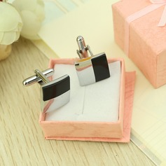 Simple Square Stainless Steel Cufflink