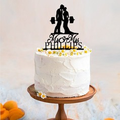 Personalized Sports Couple Acrylic/Wood Cake Topper