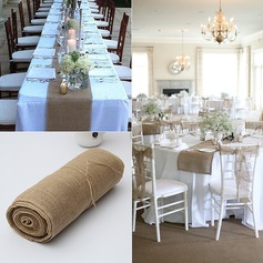Tablecloth Linen (Sold in a single piece) Simple Clear Table Centerpieces