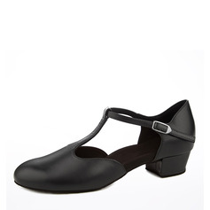 Women's Real Leather Flats Ballroom Dance Shoes (053153272)