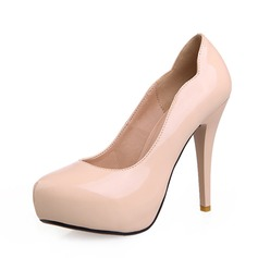 Patent Leather Cone Heel Pumps Platform shoes (085059819)