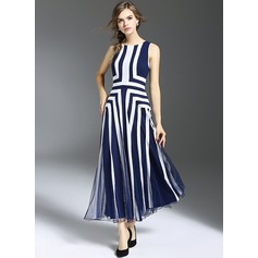Polyester With Print Knee Length Dress (199120511)