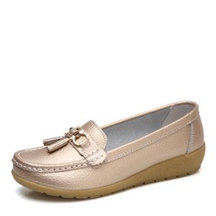 Women's Leatherette Low Heel Flats Closed Toe With Buckle shoes (086164459)