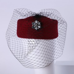 Damen Nizza Wollen mit Strass Bowler/Kapotthut/Tea Party Hüte