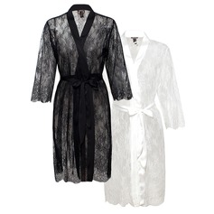 Bride Bridesmaid Satin & Lace Robes