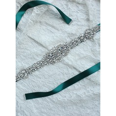 Elegant Ribbon Sash With Rhinestones (015101417)