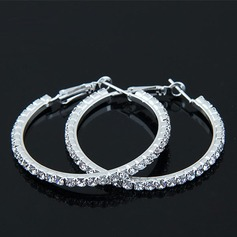 Shining Alloy Rhinestones With Rhinestone Women's Fashion Earrings (Sold in a single piece)