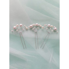 Alloy/Imitation Pearls With Embroidery Hairpins (Set of 5)