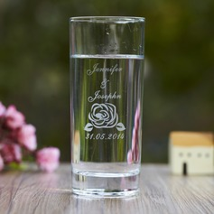 Personalized Flower Design Glass Cup
