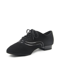 Men's Fabric Ballroom With Lace-up Dance Shoes