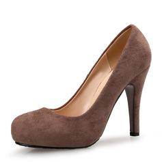المرأة سويدي كعب ستيليتو مضخات منصة تو مغلقة أحذية