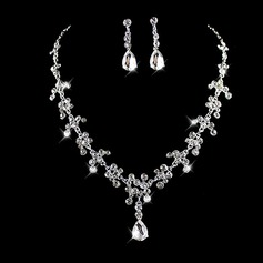 Beautiful Alloy Rhinestones With Rhinestone Ladies' Jewelry Sets (137109098)