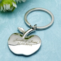 "Personalized ""Apple of My Eye"" Stainless Steel Keychains  (118030188)"