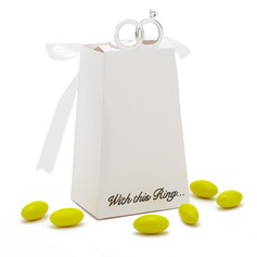 With This Ring Card Paper Favor Boxes With Ribbons