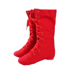 Women's Canvas Boots Jazz Dance Shoes