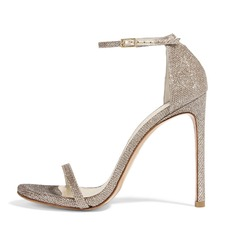 Women's Sparkling Glitter Stiletto Heel Sandals shoes (087086352)