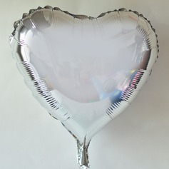 10pcs - 10inch Silver Heart Shaped Balloons