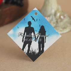 "Personalized ""Romance"" Hard Card Paper Tags"