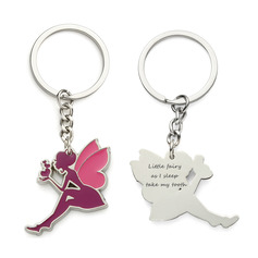 Personalized Angel Design Zinc Alloy Keychains