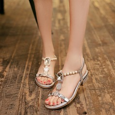 Women's Leatherette Flat Heel Sandals With Crystal Imitation Pearl shoes (087114596)