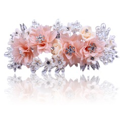 Unique Rhinestone/Alloy/Imitation Pearls/Silk Flower Headbands (Sold in single piece)