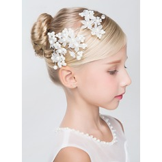 Artificial Silk/Imitation Pearls With Imitation Pearls Hairpins (Set of 3)