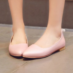 Women's Leatherette Flat Heel Flats Closed Toe shoes (086119357)