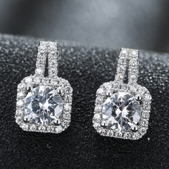 Beautiful Zircon Copper Ladies' Fashion Earrings (137108127)