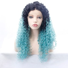 Curly Synthetic Hair Lace Front Wigs 350g