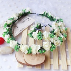 Silk/Paper With Flower Flower Headband ( Including Wrist Corsage)