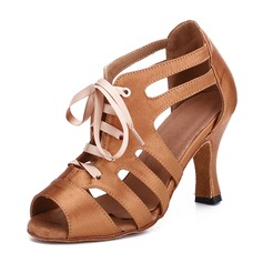 Women's Satin Heels Swing Dance Shoes