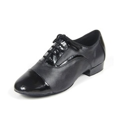 Men's Real Leather Heels Pumps Latin Ballroom Practice Dance Shoes