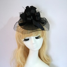 Dames Mode/Exquis/Accrocheur Fil net avec Feather Chapeaux de type fascinator
