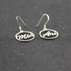 Personalized Ladies' Exquisite S925 Sliver Name Earrings For Bridesmaid/For Friends