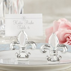 """Fleur-de-Lis"" Resin Place Card Holders"