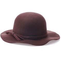 Ladies' Fashion/Simple Wool With Bowknot Bowler/Cloche Hat