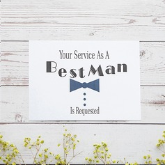 Groomsmen Gifts - Elegant Card Paper Wedding Day Card