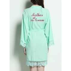 Cotton Mom Lace Robes Glitter Print Robes