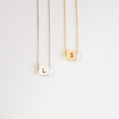 Personalized Ladies' Hottest 925 Sterling Silver Engraved/Initial Necklaces For Bride/For Bridesmaid/For Mother/For Friends/For Couple